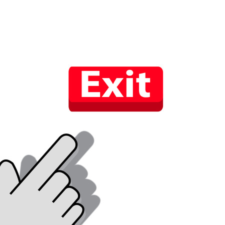 mouse click on the button exit  wants Vector