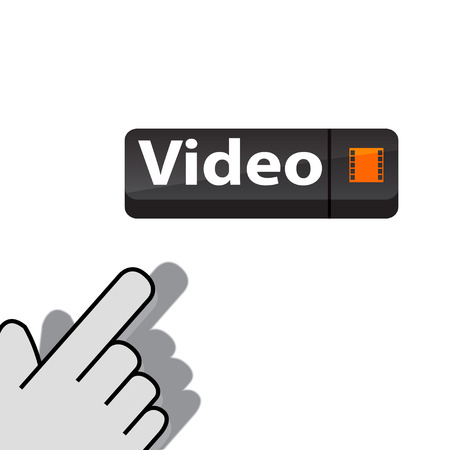 mouse click: mouse click on the button video  wants Illustration
