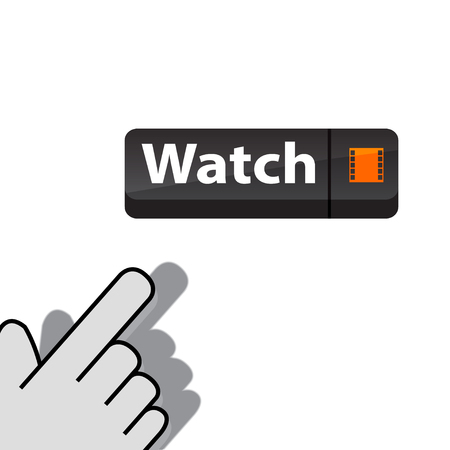 Click on button watch wants Vector