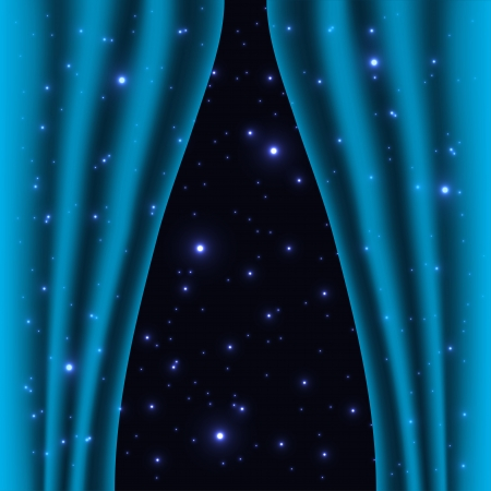 conceptions: abstract curtain into space background