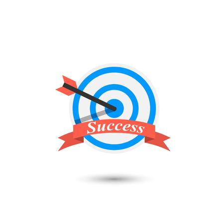achieving: achieving goal icon Illustration