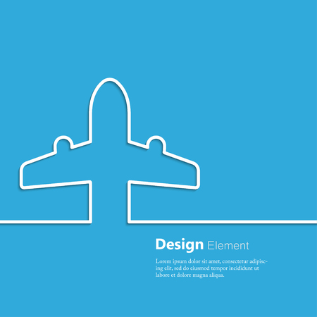 airplane ticket: Travel background with airplane ticket