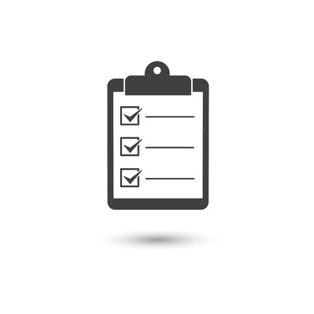 Check list icon conceptual of a survey quality control questionnaire tasks Vector