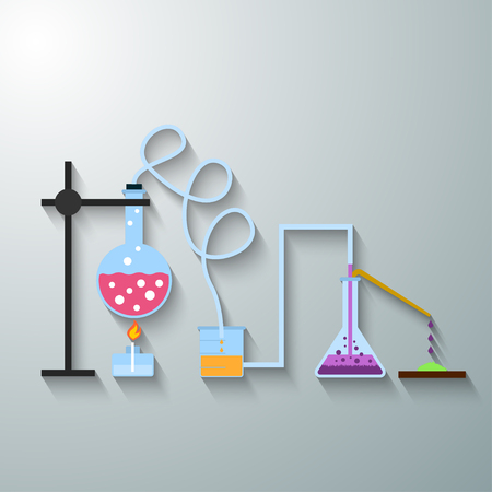 erlenmeyer: Chemistry infographics template