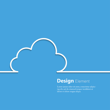 Abstract concept of cloud computing. Vector