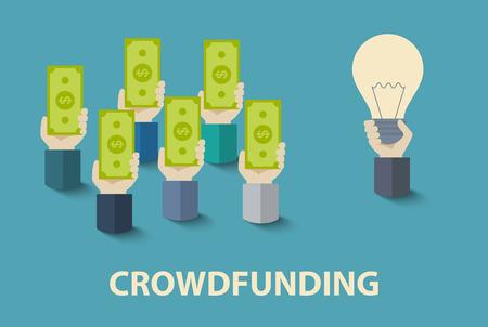 crowdfunding-concept Stock Illustratie