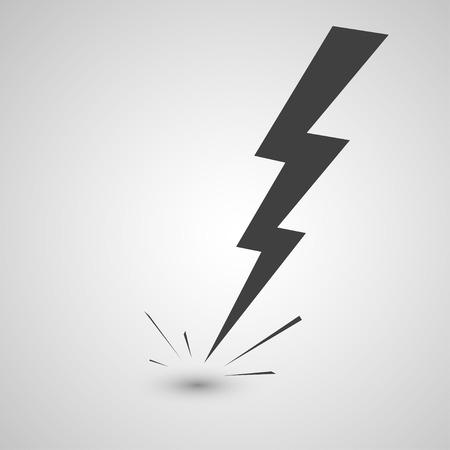 lightning arrow: lightning illustration or icon Illustration