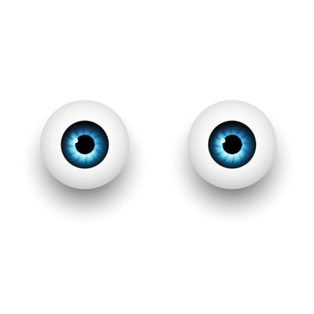 visual effects: Fantasy eyes blue color visual effects Illustration