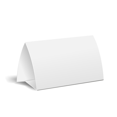 3d table paper card isolated on background