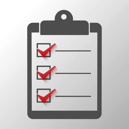 web survey: Check list  conceptual of a survey quality control questionnaire tasks.Abstract illustration