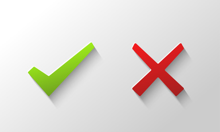 disapprove: Yes and No check marks