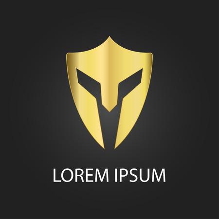 cascos romanos: icono elemento de diseño centurión casco guerrero - identidad visual de seguridad