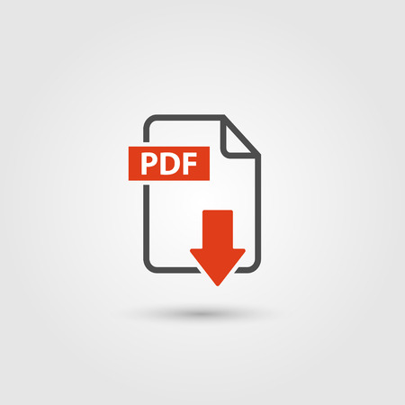 PDF icon isolated on background Vector