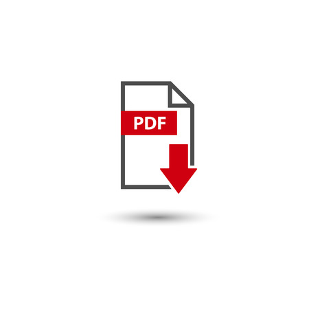 PDF icon download format vector