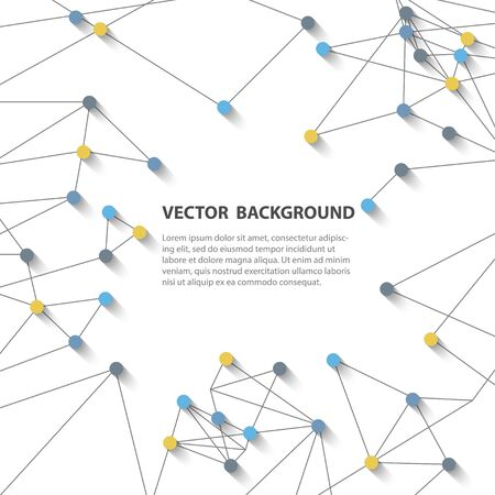 web2: Abstract polygonal vector background, connection structure. Science background. Technology background.