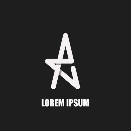 Letter A logo symbool template design. Moderne trendy stijl overlaping Techniek. Stock Illustratie