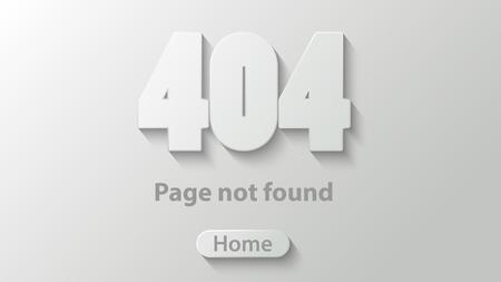 404 Pagina niet gevonden web design element Stock Illustratie