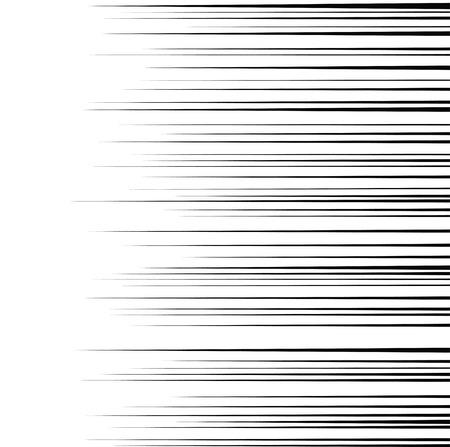 horizontal: Comic horizontal speed lines background