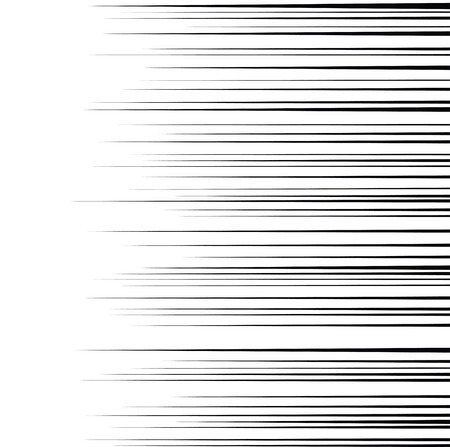 Comic horizontal speed lines background