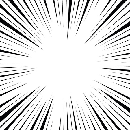 action: Comic radial speed lines background