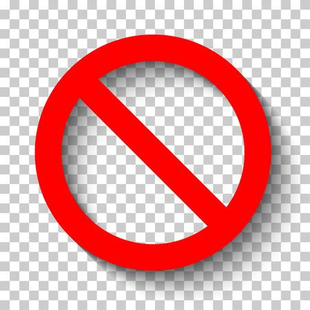Blank sign ban vector illustration. Vettoriali