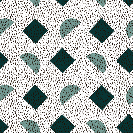 memphis: Seamless abstract geometric pattern in retro memphis style