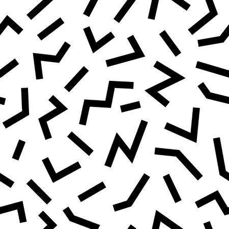 Naadloos abstract geometrisch patroon in retro-stijl Memphis