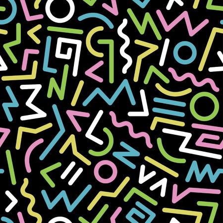 Naadloos abstract geometrische patroon mode 80-90s. Het kan worden gebruikt bij het drukken, websiteachtergrond en stoffenontwerp.