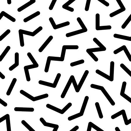 Seamless pattern geometrici astratti moda anni '80 -'90. Può essere utilizzato nella stampa, nello sfondo del sito Web e nella progettazione del tessuto. Archivio Fotografico - 48364113