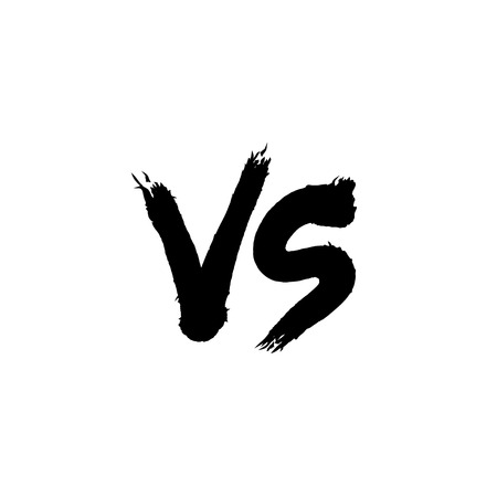 Symbol competition VS vector illustration.