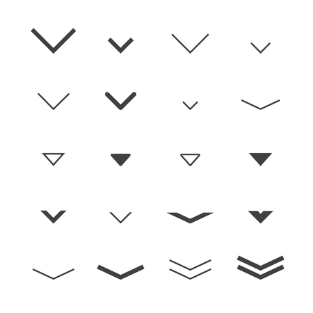 directional arrow: Arrow  buttons down set for scrolling design. Vector trendy design.