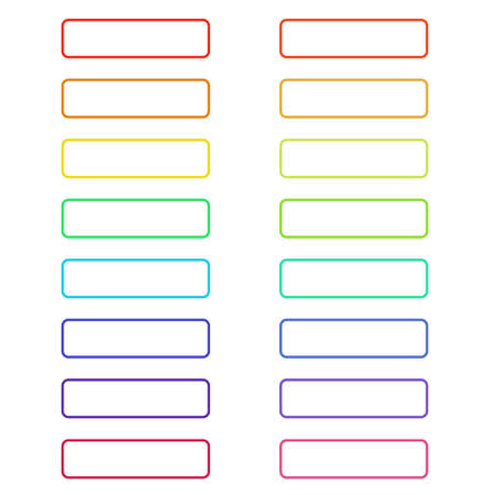 site backgrounds: Ghosts buttons colorful set for web design. Vector trendy design.