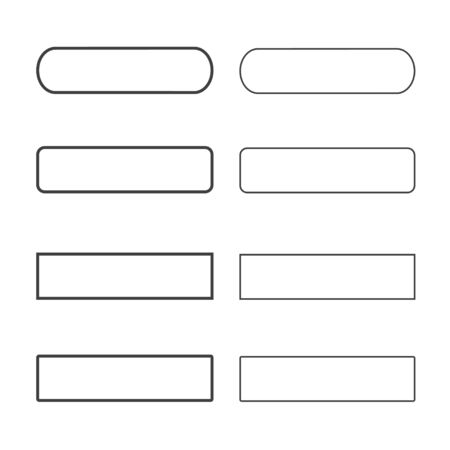 square button: Ghosts buttons different set for web design. Vector trendy design. Illustration