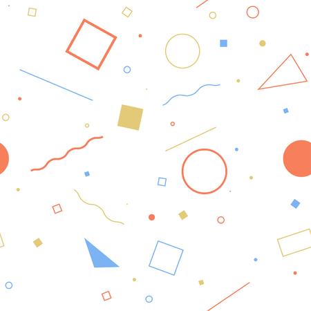 Naadloos abstract geometrisch patroon mode-'80-'90. Het kan worden gebruikt bij het drukken, websiteachtergrond en stoffenontwerp.