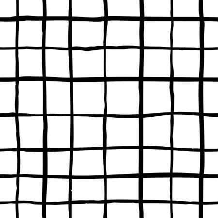 Vector naadloze hipster patroon. Hand getrokken zwart-wit patroon. Zwart-wit ontwerp. Abstracte achtergrond. Stock Illustratie