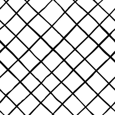 Vector seamless hipster pattern. Hand drawn monochrome pattern. Black and white design. Abstract background.