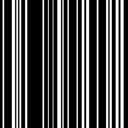 Patroon zwart en witte verticale streep naadloos. Vector achtergrond.