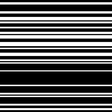 Pattern black and white horizontal stripe seamless. Vector background.  イラスト・ベクター素材