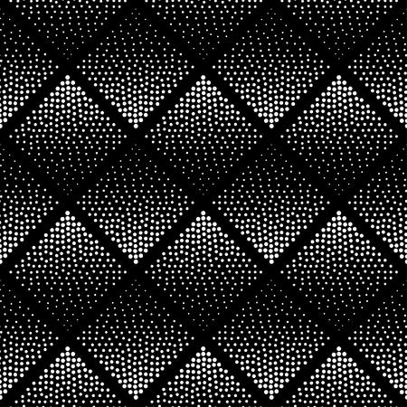 Naadloze patroon achtergrond. Hipster Pattern. Zwart-wit patroon. Zwart-wit Patroon. Hipster Geometric Design. Patroon . Abstract Design. Halftone Achtergrond. Dot patroon achtergrond. Patroon van de Driehoek. Stock Illustratie