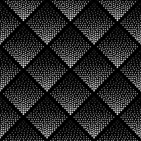 Seamless Pattern. Motif Hipster. Motif monochrome. Motif noir et blanc. Hipster conception géométrique. Modèle . Conception abstraite. Contexte Halftone. Dot Pattern. Motif Triangle.