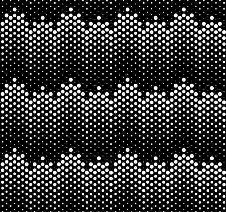 Seamless Pattern. Motif Hipster. Motif monochrome. Motif noir et blanc. Hipster conception géométrique. Modèle . Conception abstraite. Contexte Halftone. Dot Pattern. Vecteurs