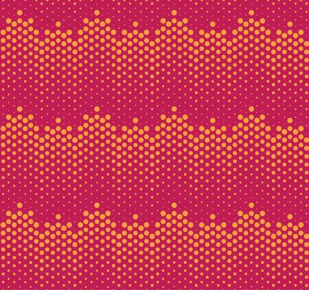 Halftone gradients seamless pattern. Vector