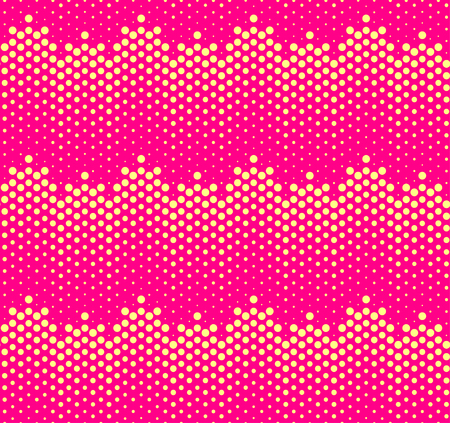 Halftone gradients seamless pattern. Vector
