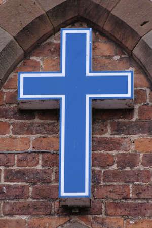 Blue cross photo