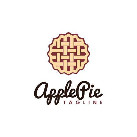 Vintage, hipster, retro apple pie logo