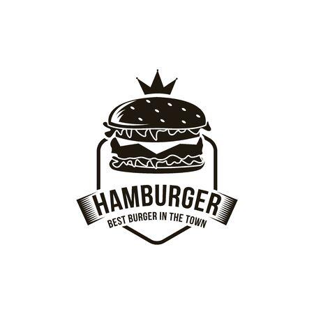 Vintage retro hipster hamburger burger logo Logo