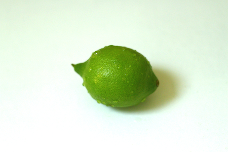 Beautiful, whole,organic lime just washed and isolated shot.