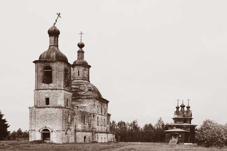 dilapidated: old dilapidated church of the 17th century Stock Photo