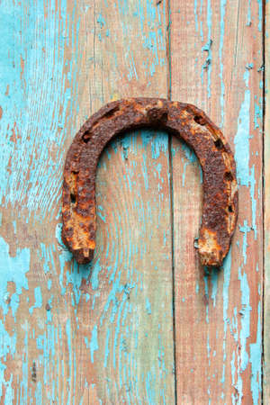 old rusty horseshoe photo