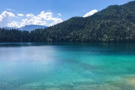 scenic mountain lake in the Tyrol region of Austria, the tranquil place Archivio Fotografico